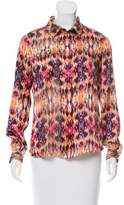 ICB Printed Silk Top