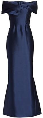 Catherine Regehr Off-The-Shoulder Twist-Front Silk Radzimir Gown