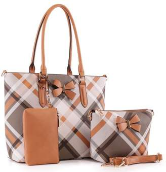 Mkf MKF Collection Jixi 3PC Tote with Wristlet Pouch and Crossbody Bag by Mia K.