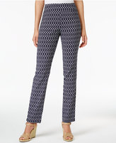Charter Club Cambridge Print Slim-Leg Pants, Created for Macy's