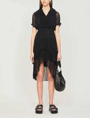 The Kooples Ruffled crepe midi dress