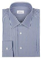 Brioni Washed Stripe Cotton Formal Shirt