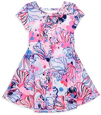 Lilly Pulitzer Little Girl's & Girl's Alina Pink Make A Splash Dress