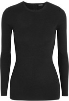 ADAM by Adam Lippes Open-back ribbed stretch-cashmere sweater