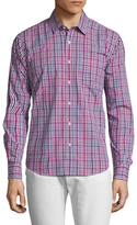 Toscano Mini Check Spread Collar Sportshirt