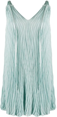 Mrz Textured Sleeveless Shift Dress