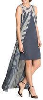 Nic+Zoe Plus Front-Slit Cape Dress