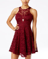Material Girl Juniors' Lace Skater Dress, Only at Macy's