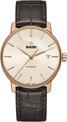 Rado Coupole Classic Automatic Leather Strap Watch, 38mm