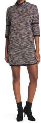 Max Studio Knit Tweed Mock Neck Dress