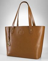 LAUREN RALPH LAUREN Newbury Tan Leather Tote Bag