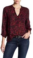 Casual Studio V-Neck Partial Button Blouse