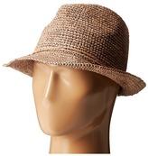 San Diego Hat Company RHF6120 Crochet Raffia Fedora Hat