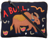 Lizzie Fortunato 'Safari' embroidered clutch