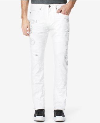 Buffalo David Bitton Men's Distressed Ash-X Stretch Jeans