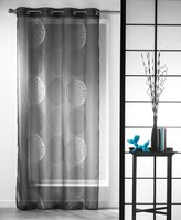 Evideco Printed Sheer Grommet Curtain Panels Kosmo Anthracite Gray 55W x 95L