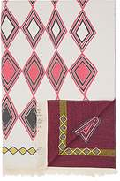 Barneys New York Miky Diamond-Pattern Merino Wool-Cotton Throw