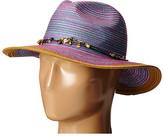 San Diego Hat Company MXM1023 Panama Fedora Hat with Beaded Trim