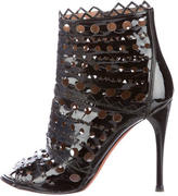 Alaia Patent Laser Cut Booties