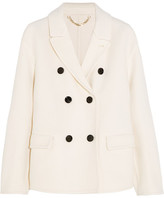 Burberry Double-breasted Cashmere Coat - White