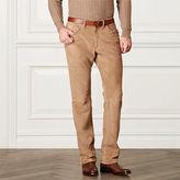 Ralph Lauren Purple Label Straight-Fit Suede Pant