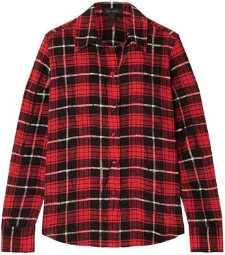 Marc Jacobs Checked Silk Crepe De Chine Shirt