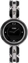 Fendi Silver & Black My Way Fur Glamy Watch