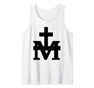 Marian Cross - Mary Miraculous Lady of Graces Christianity Tank Top