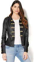 New York & Co. Faux-Leather Military Jacket