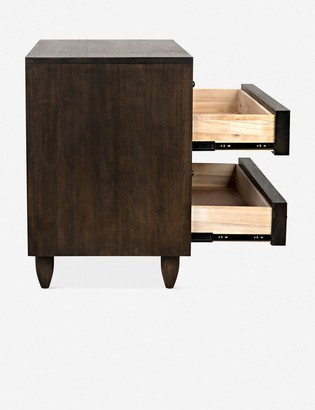 Lulu & Georgia Sen 4-Drawer Dresser, Ebony Walnut