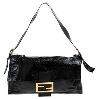 Fendi Baguette Black Patent leather Handbags