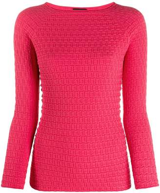 Emporio Armani geometric knit top