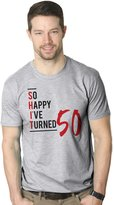 Crazy Dog T-shirts Crazy Dog Tshirts Mens So Happy Ive Turned 50 Funny Birthday Ceebration T shirt (Grey)