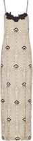 Haute Hippie Jet appliquéd beaded silk crepe de chine maxi dress