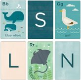 Petit Collage Alphabet Cards Ocean Life A-Z