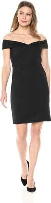 Emma Street Women's Shawl Collar Crepe Dress
