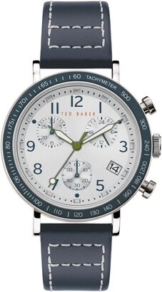 Ted Baker Marteni Chronograph Leather Strap Watch, 42mm