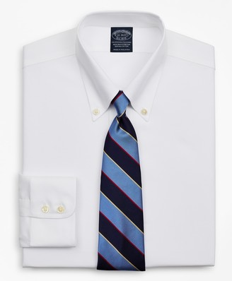 Brooks Brothers Stretch Big & Tall Dress Shirt, Non-Iron Royal Oxford Button-Down Collar