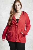 Forever 21 FOREVER 21+ Plus Size Hooded Utility Jacket
