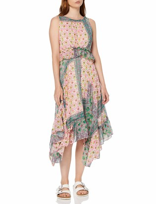 Koton Women's Summer Dress With Small Pattern And Ruffle Party Dress