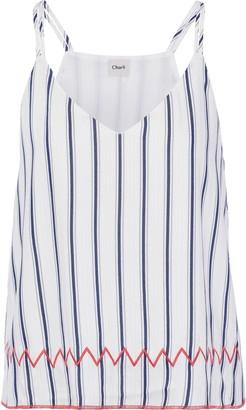 Charli Rae Embroidered Striped Jacquard Camisole