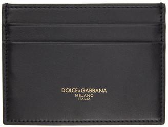 Dolce & Gabbana Black Leather Logo Card Holder