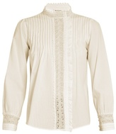 Masscob Hazel lace-trimmed cotton blouse