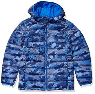Amazon Essentials Toddler Boys' Lightweight Water-Resistant Packable Hooded Puffer Jacket