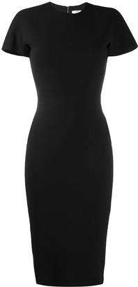 Victoria Beckham Short Sleeve Fitted Dress