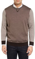 Thomas Dean Men's Colorblock Merino Wool Sweater