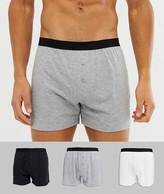Asos Design ASOS DESIGN 3 pack jersey boxers in monochrome save-Multi