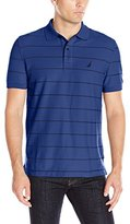 Nautica Men's Classic Fit Striped Performance Polo Shirt