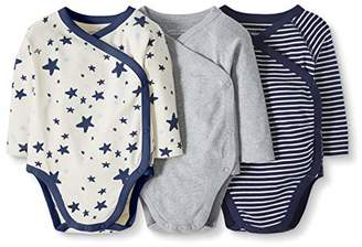 Hanna Andersson Moon and Back by Baby 3-Pack Organic Cotton Long Sleeve Side Snap Bodysuit