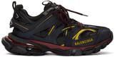 Balenciaga Black and Burgundy Track Sneakers